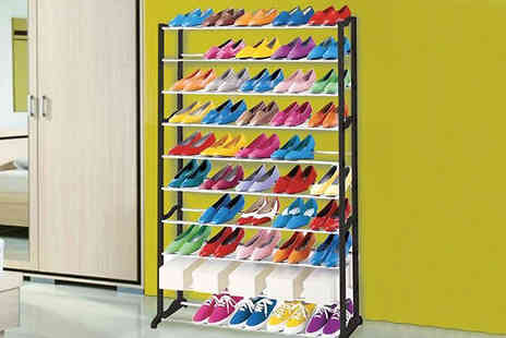 Bestbuys4u - Ten Tier Shoe Rack   - Save 72%