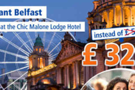 Malone Lodge Hotel - 4 days for 2 people in Northern Irelands Capital in Belfast - Save 40%
