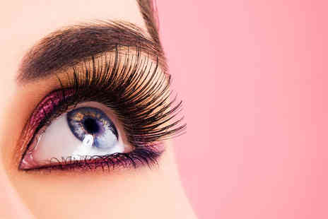 OMG Hair and Beauty - Semi Permanent Eyelash Extensions with Eyebrow Definition Treatment - Save 60%