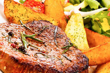 Aberdeen Steak House - Steak Meal with Olives to Share and Glass of Champagne Each for Two - Save 64%