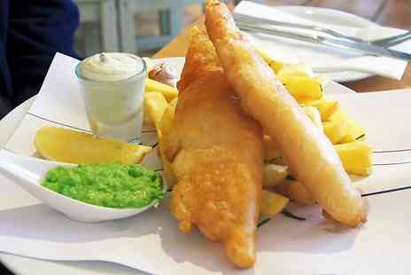 The Flying Dutchman - Fish and Chips With a bottle of Budweiser For Two - Save 0%