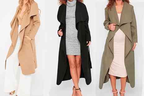 Fabshopper - Waterfall Coat Available in a Range of Colours - Save 0%