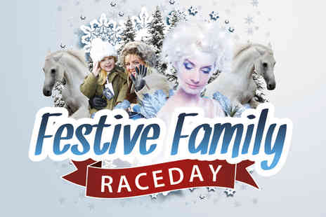 Uttoxeter Racecourse - Two premier tickets to a Christmas themed race day  - Save 57%