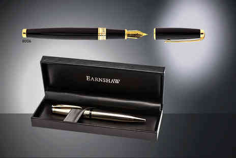 Mainspring Boutique - Choice of Earnshaw ball, roller or fountain pens with a gift case - Save 82%