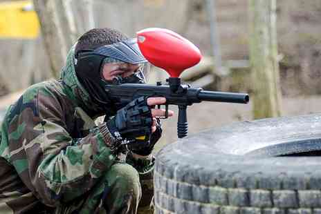Conflict Paintball  - Paintball With 100 Balls Each and Dominos Pizza For Two  - Save 75%