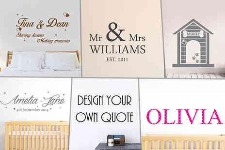 Wundur - Personalised wall sticker - Save 77%