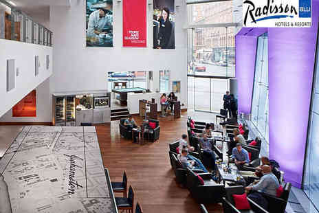 Radisson Blu Hotel - Afternoon Tea with Glass of Prosecco or Mulled Wine for Two   - Save 55%