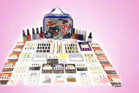 Vivre International -  61 piece Mega nail art kit plus a presentation bag - Save 92%