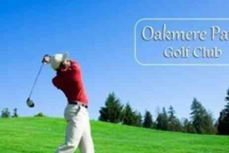 Oakmere Park Golf Club - 18 Holes of Golf For Four With Trolley Hire and 100 Driving Range Balls Each - Save 65%