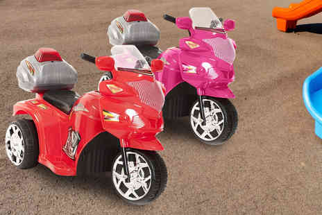 Ebuyer - Kids electric police trike in red or pink - Save 0%