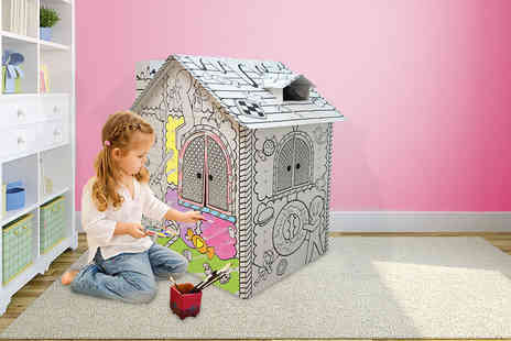 Treats for Kids - Childrens build and colour in play house   - Save 59%