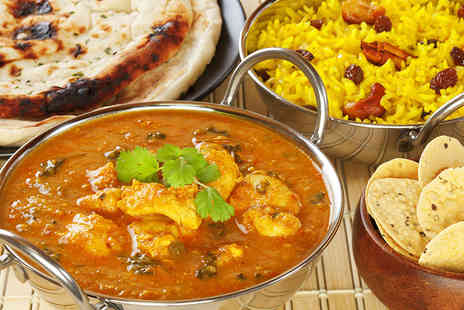 Indian Cottage - Vibrant Indian Two Course Meal with a Choice of Rice or Naan for Two - Save 59%