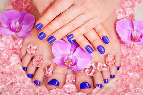 USA Star Nails -  90 minute deluxe manicure and pedicure   - Save 61%