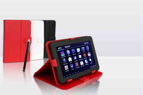 "Chimp Electronics - 9"" quad core 8GB Android tablet bundle including case, charger, earphones and more - Save 79%"