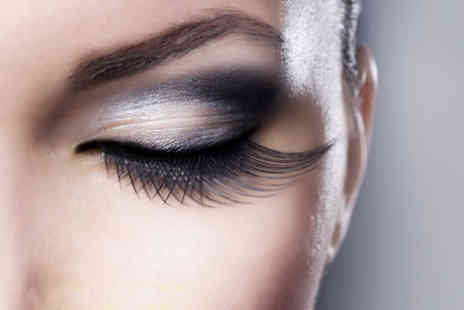 Spotlight Salon and Academy - Full set of natural mink eyelash extensions with brow threading  - Save 61%