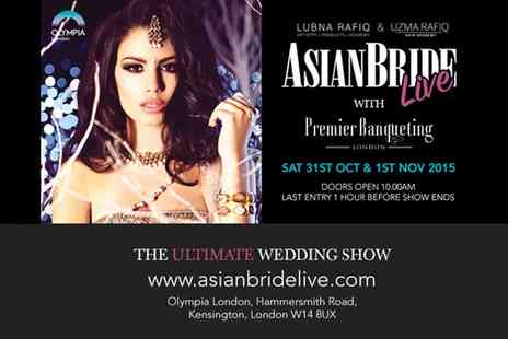 Asian Bride Live - Ticket for one, two or four to the Asian Bride Live show on 31 October  - Save 33%