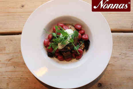 Nonnas Chesterfield - À La Carte Pasta Dish Each with Bottle of Nonna's Wine to Share for Two - Save 0%