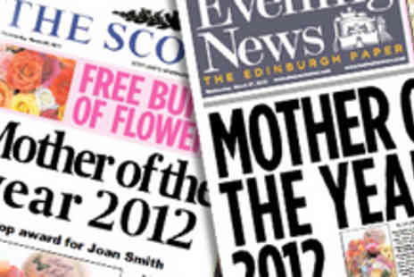 Scooped - Branded Personalised Mother's Day Newspaper - Save 47%