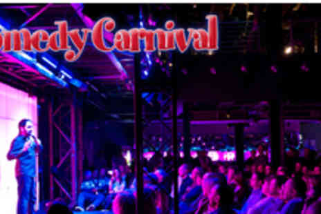 Comedy Carnival - 2 tickets to a Comedy Carnival show with a glass of beer or wine - Save 57%
