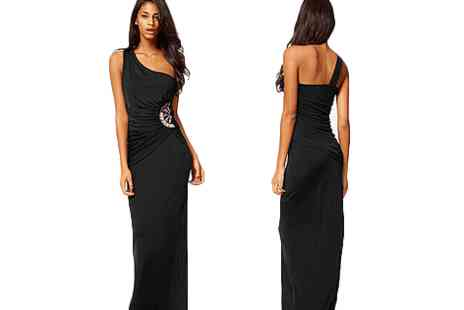 Fish called Geoff - Long One Shoulder Evening Dress - Save 58%