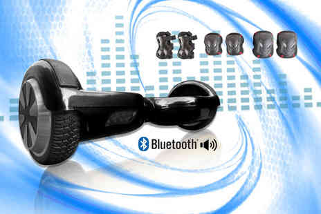 Vespucci - Bluetooth speaker electric balance board in a choice of black - Save 57%