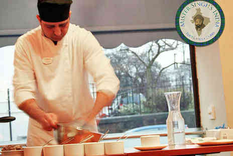 Mister Singhs India - Pakora Making Workshop and Three Course Meal with Beer or Wine for One  - Save 64%