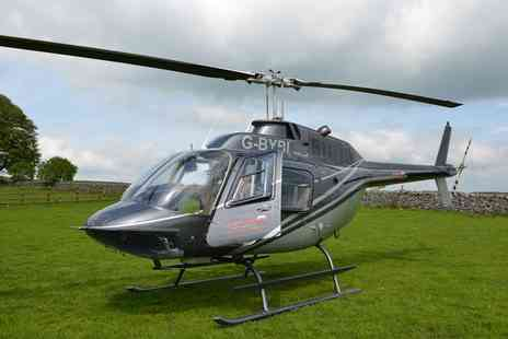 Adventure 001 - 12 Mile Helicopter Flight with Winter Refreshments for One or Two  - Save 0%