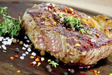 Craigibield House Hotel - Ribeye Steak Meal with a Glass of Wine for Two - Save 26%