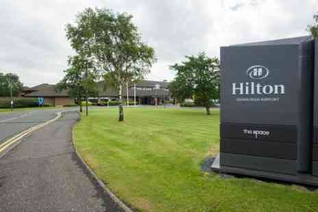 Hilton Edinburgh Airport - Lunch for Two with Parking and Swimming Pool Entry - Save 52%