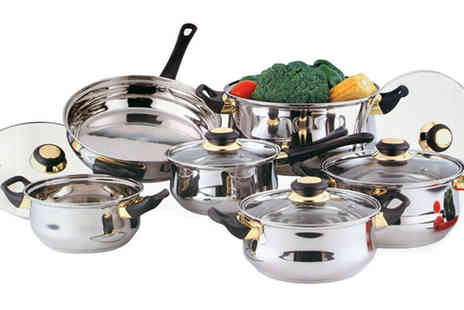 ToolCollection - 12pc Stainless Steel Cookware Set - Save 51%