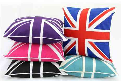 ADAM LINENS - Choice of Union Jack Cushion Covers - Save 0%