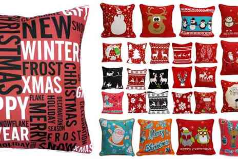 ADAM LINENS - Choice of Christmas Cushion Covers - Save 19%