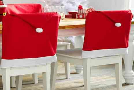 Fish called Geoff - Set of Eight Santa Hat Chair Covers - Save 49%