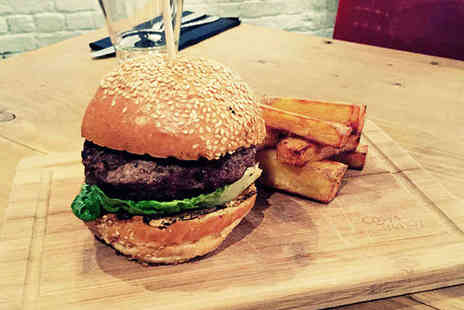 Craft Kitchen - Starter, Burger, Side Dish, and Glass of Wine or Pint of Beer Each for Two - Save 68%