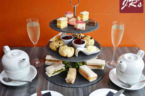 JRS  - Afternoon Tea with Glass of Prosecco for Two   - Save 50%