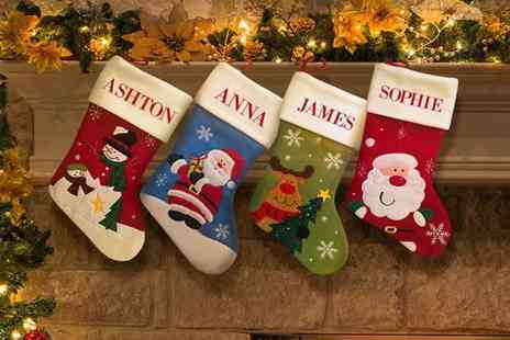 Dinkleboo  - One Personalised Christmas Stocking  - Save 67%