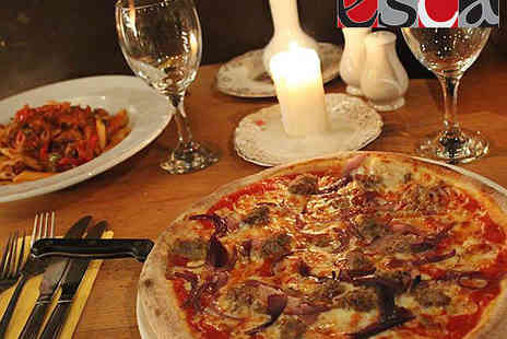 Esca - Pizza, Pasta, or Risotto Each for Two With Glass of Wine or Bottle of Beer for Two - Save 55%