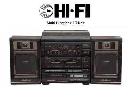 AMB COVENTRY - Hi Fi Multifunction System with Vinyl Player - Save 50%