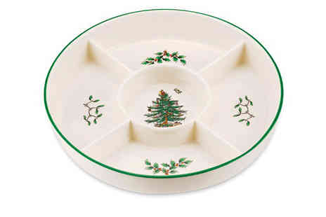Park Promotions - Spode Christmas Tree Hors Doeuvre Platter  - Save 42%