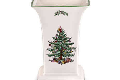 Park Promotions - Spode Christmas Tree Square Vase  - Save 19%