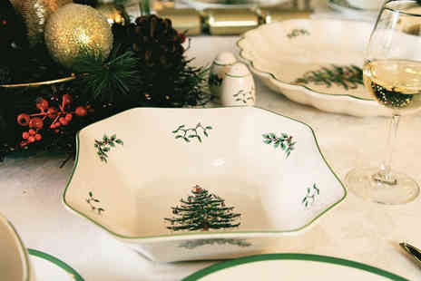 Park Promotions - Spode Christmas Tree Roastie / Octagonal Dish - Save 3%