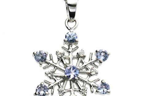 Lyncroft Marketing - Tanzanite Silver Snowflake Pendant and Free Earrings - Save 0%