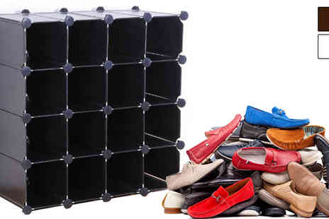 Plus Bee - Interlocking Cube Shoe Storage - Save 0%