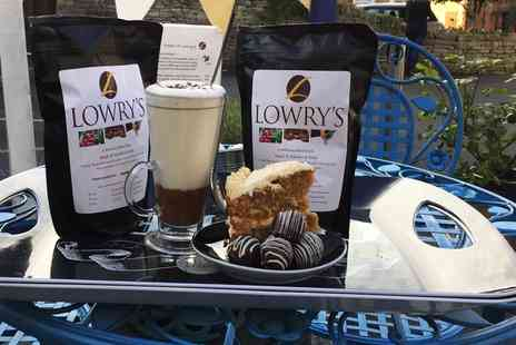 Lowrys Espresso Bar and Chocolatier - Hot Chocolate and Cake or Truffles for Two   - Save 50%