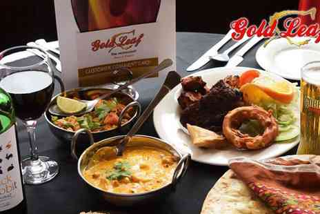 Gold Leaf - Two Course Indian Meal for Two   - Save 50%