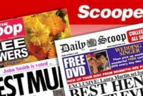 Scooped - Two personalised spoof newspapers - Save 55%