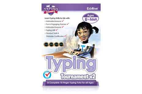 Avanquest - Learn to Type Typing Tutor Tournament v2 Software for Ages 6 plus for Mac or PC  - Save 51%