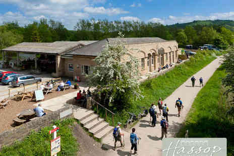 Hassop Station - All Day Cycle Hire for One Adult and One Child with Refreshments  - Save 59%