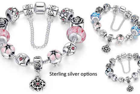 AthenaFashion - Choice of Crystal Charm Bracelet - Save 83%