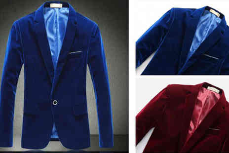Rubybliss Global- Mens Velvet Blazer - Save 38%
